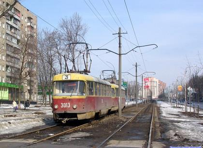 Один из харьковских трамваев