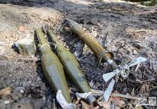 снаряда на блокпосту, который покиныли боевики