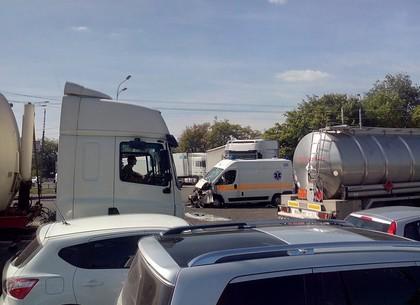 грузовика и маршрутки