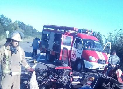 Два человека погибли вДТП сучастием автобуса вХарьковской области
