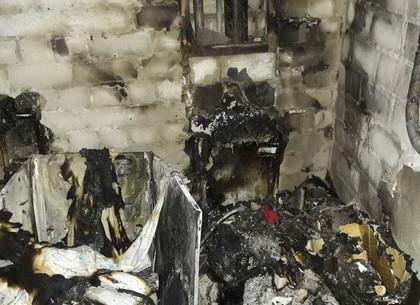 Cотрудники экстренных служб ликвидируют пожар наполигоне ТБО под Харьковом