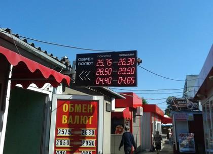 Наличные и безналичные курсы валют в Харькове на 25 мая