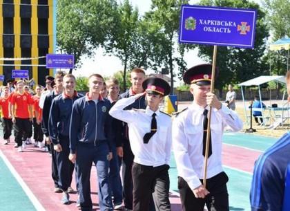 Юные пожарные соревнуются в Харькове