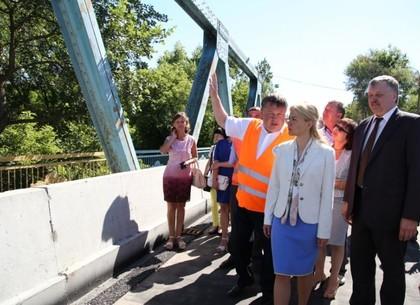 Юлия Светличная: Ремонт моста в Изюме закончат до конца августа