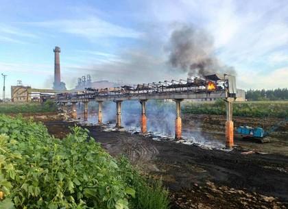 В Балаклейском районе горел сахарный завод