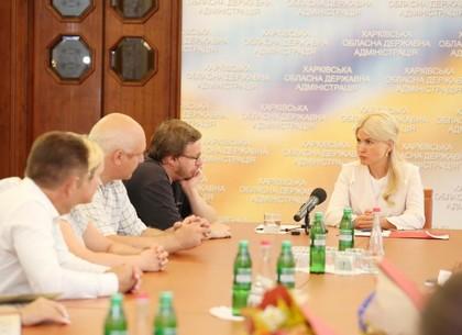 Юлия Светличная провела встречу с советниками главы ХОГА, обеспечивающими взаимодействие с общественностью