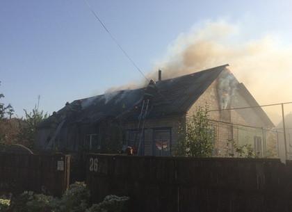 В Балаклее вспыхнул жилой дом