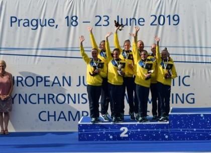 Синхронное плавание. Харьковчанки - вице-чемпионки и призерки первенства Европы