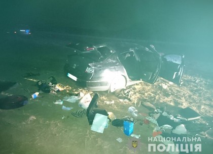 Под Харьковом превернулась инорамка: четуре человека в неотложке