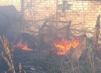В результате поджогов под Харьковом сгорели 2 дома