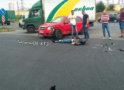 Драма на Ландау: в ДТП попал мотоцикл и Chevrolet (ФОТО, ВИДЕО)