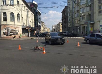 В центре Харькова сбили велосипедистку