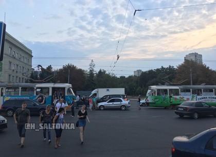 ДТП: как Lanos и Lexus Московский проспект не поделили и трамваи остановили