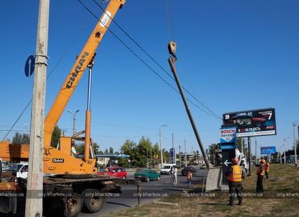 Как строят троллейбусную линию на Северную Салтовку