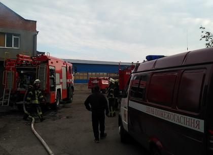 От брошенки загорелось административное здание на Грековской