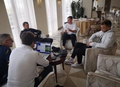 Сборная Украины по футболу начала тренировочный сбор в Харькове