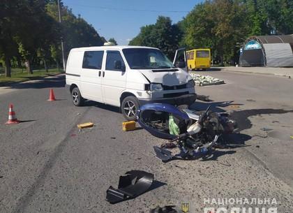 ДТП: в лоб столкнулись авто и мопед