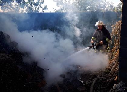 Загорание в дровнике едва не перекинулось на дом в пригороде Харькова