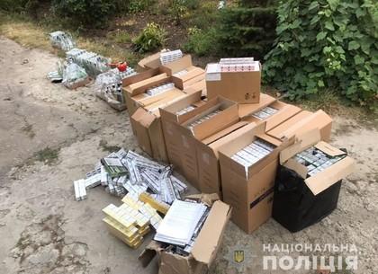 Частный склад контрафактных сигарет и алкоголя накрыли под Харьковом