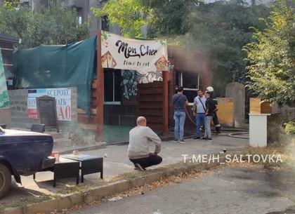 Видео: пожар в кафе в центре Харькова (Telegram)