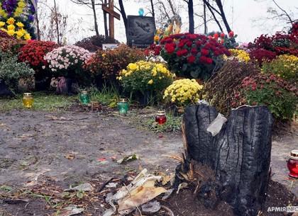 ФОТО: В Чугуеве на месте падения военного самолета Ан-26Ш отслужили панихиду по погибшим в крушения 25 сентября 2020 (АрмияInform)