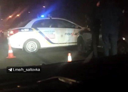 ДТП: авто полиции и легковушка не поделили Салтовское шоссе (Telegram)