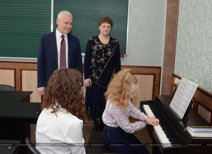 Игорь Терехов посетил Детскую музыкальную школу № 8 в Индустриальном районе Харькова