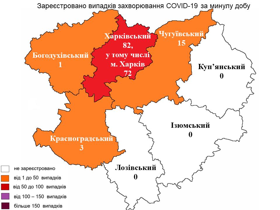 статистика: коронавирус по районам Харьковской области на 24 мая