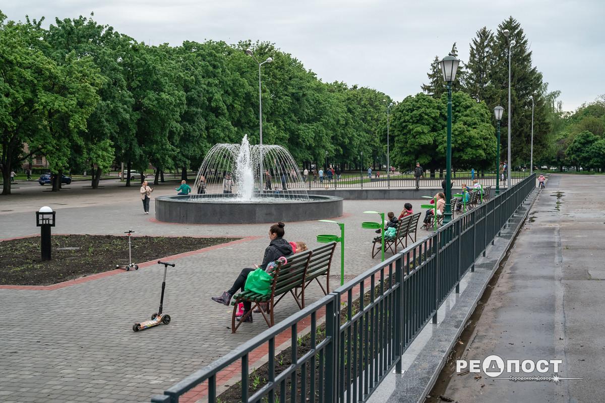 В Харькове на ХТЗ открыли новый фонтан