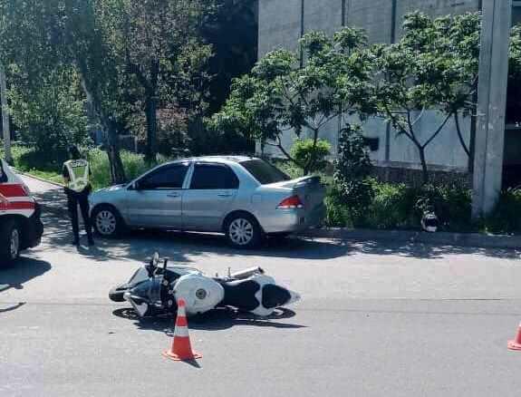 Утром 26 мая на Светлой в ДТП попал мотоциклист