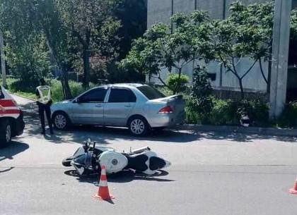 В Харькове сбили мотоциклиста