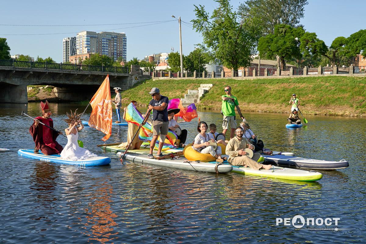 Музыканты организовали в Харькове Музыкальный сплав по реке Лопань
