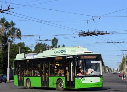 В Харькове с утра в среду 31-й и 35-й троллейбусы изменят маршрут движения