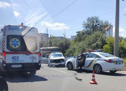 ДТП на Шевченко: столкнулись патрульная Scoda и BMW (видео, фото)