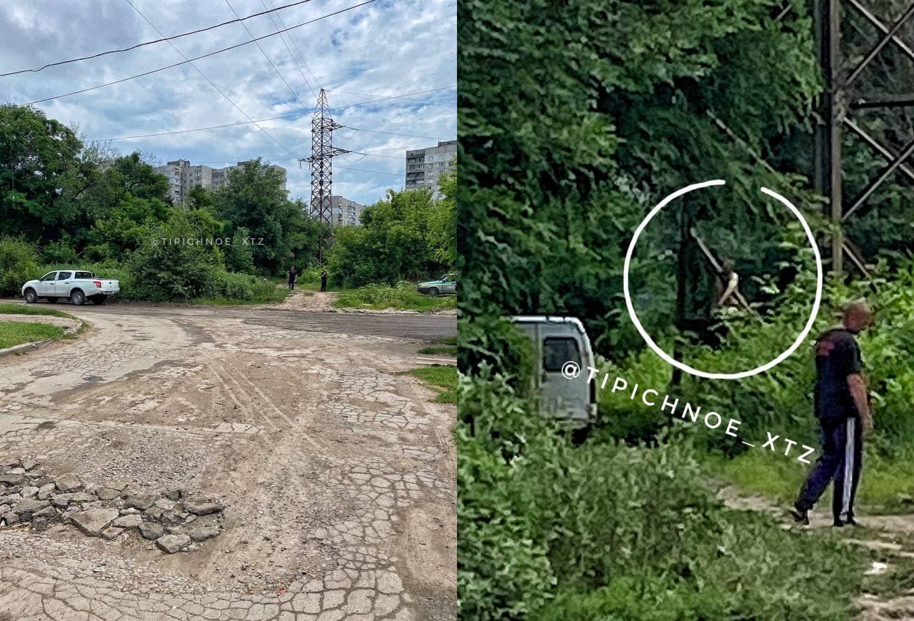 Труп на опоре электропередач обнаружили в Харькове