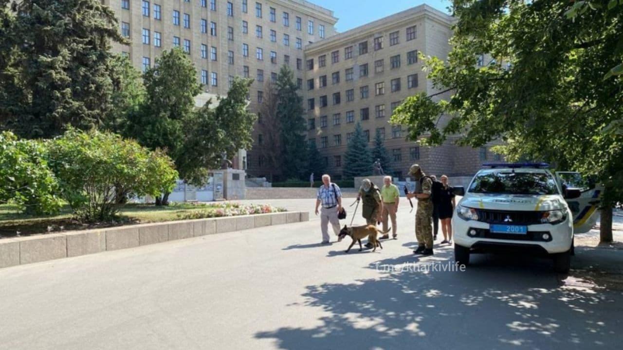 Заминировали окружной админсуд в Харькове