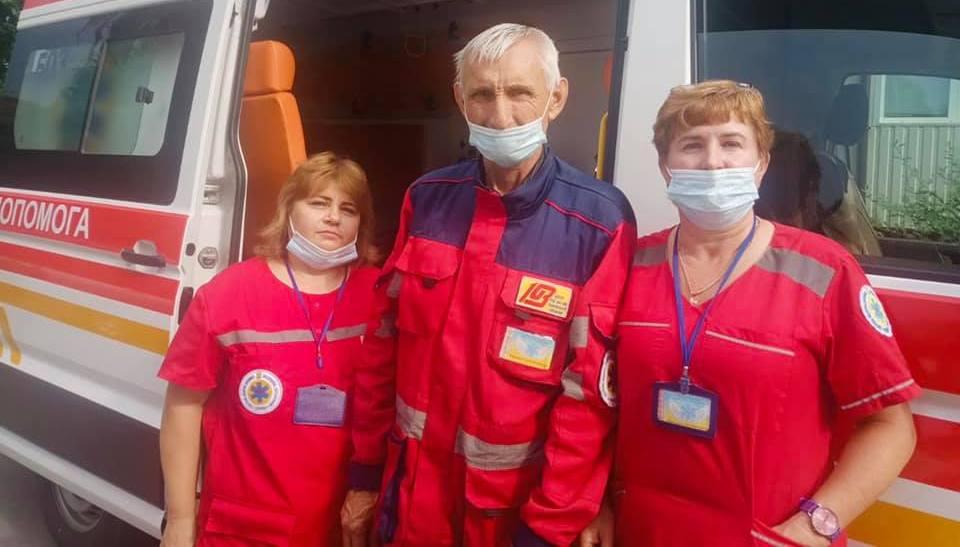 бригада ЭМП 506 в составе фельдшера Моргуненко В.В., младшей медсестры Гега А.Н. и водителя Карпенко С.М