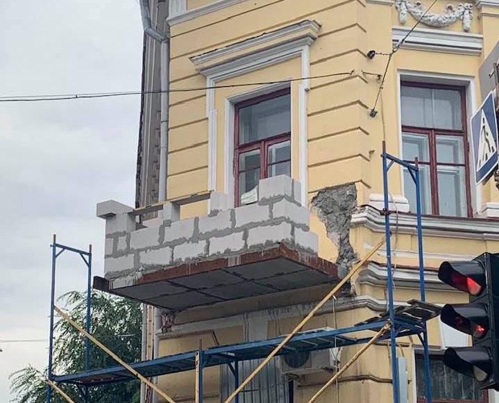 Рухнувший балкон музея восстанавливают по проекту областного Департамента. Новости Харькова