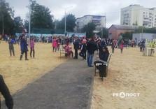 Открыли новую детскую площадку возле Аэропорта. Новости Харькова