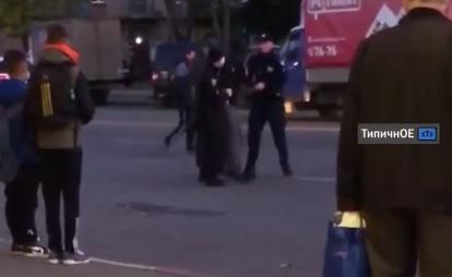 В Харькове на ХТЗ скрутили буйного дебошира (видео)