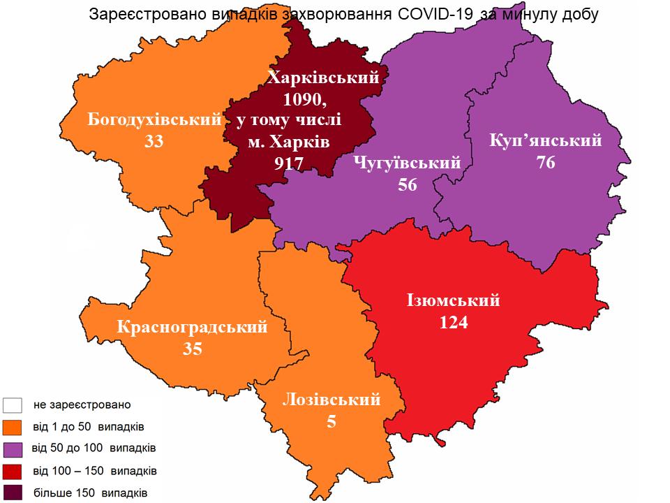 Новые случаи заражения коронавирусом лабораторно зарегистрированы в Харьковской области на 11 октября 2021 года.