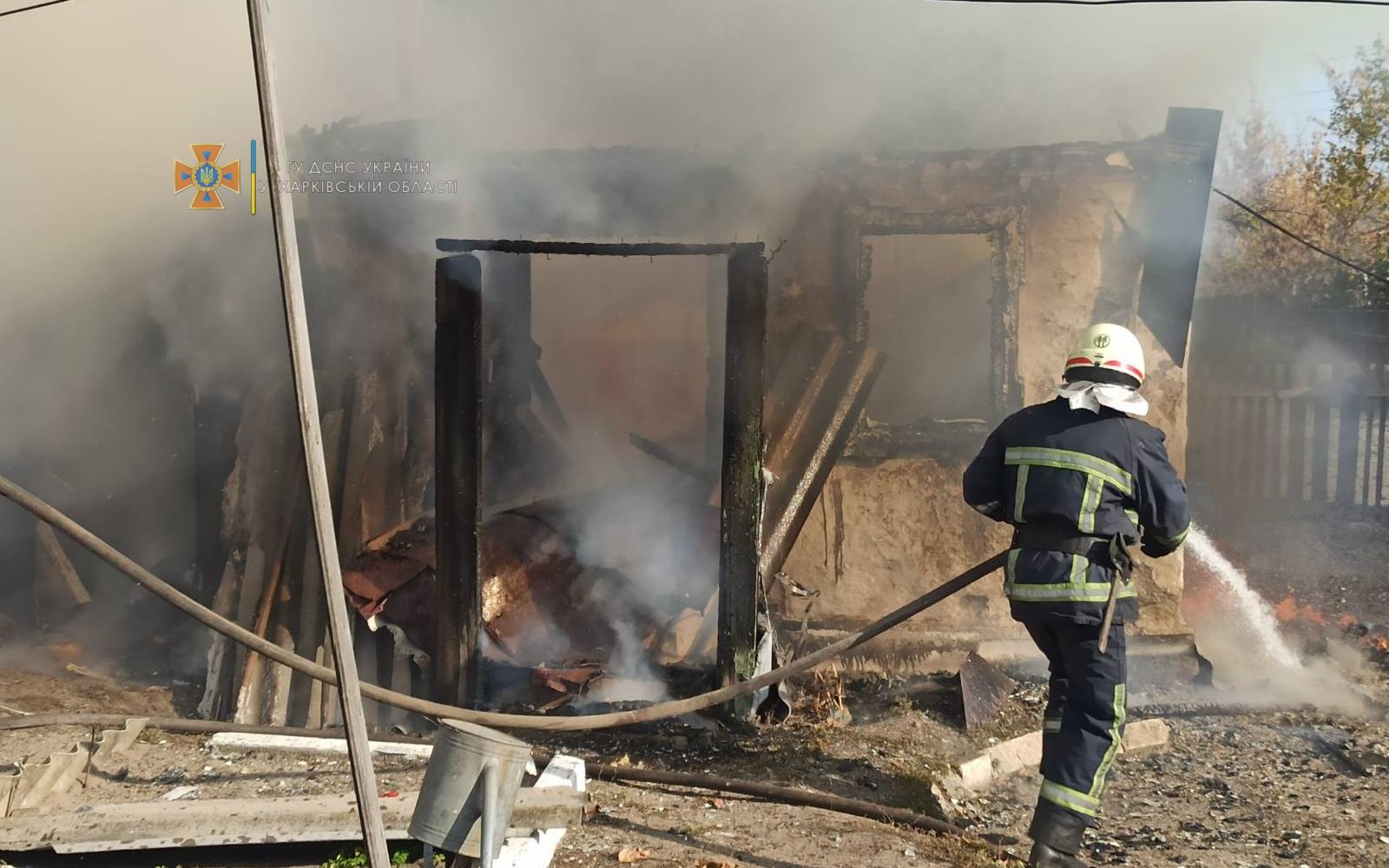 В Харьковской области тушили пожар