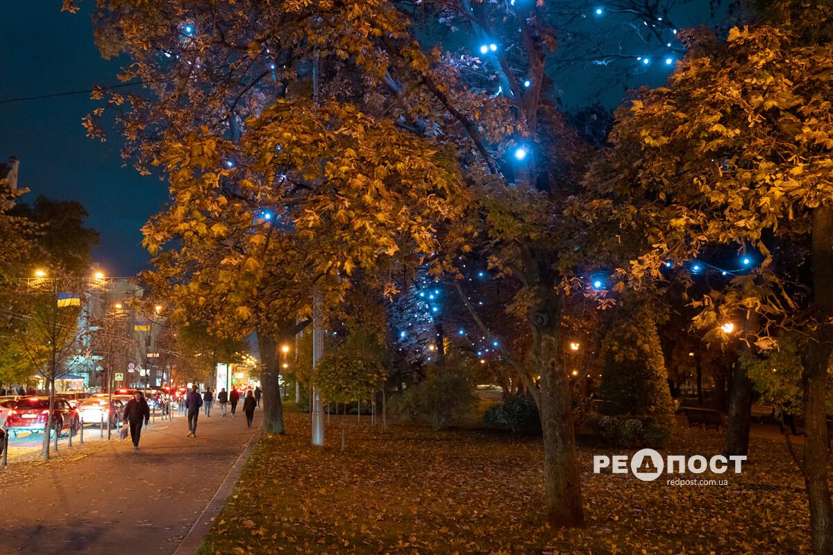 Огоньки в саду Шевченко, Харьков
